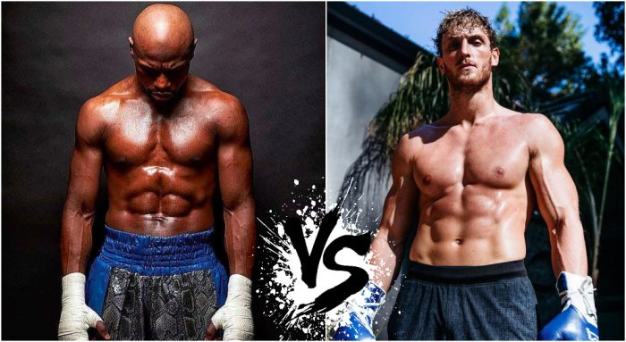 Floyd Mayweather and Logan Paul (Pictures from @floydmayweather @loganpaul on Instagram)