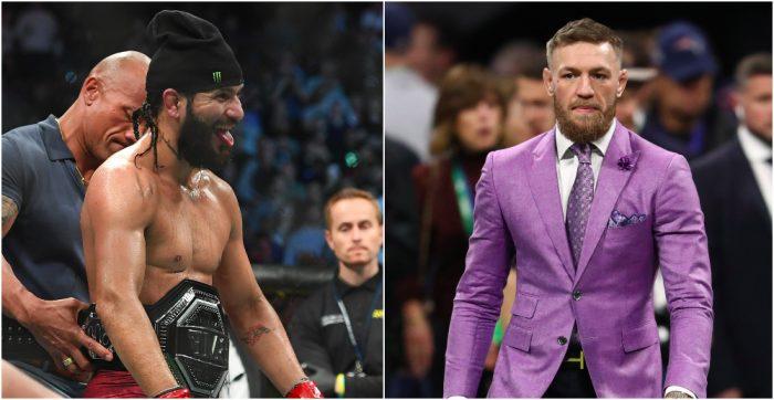 Jorge Masvidal (UFC 244 / © Sarah Stier-USA TODAY Sports) Conor McGregor (NFL: Super Bowl/© Matthew Emmons-USA TODAY Sports)