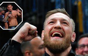 Nate Diaz - UFC 241 (© Gary A. Vasquez-USA TODAY Sports) Conor McGregor - NHL: Columbus Blue Jackets (© Brian Fluharty-USA TODAY Sports)