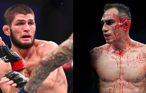 Left: UFC 229: Khabib Nurmagomedov / © Stephen R. Sylvanie-USA TODAY Sports Right: UFC 229: Tony Ferguson / © Stephen R. Sylvanie-USA TODAY Sports