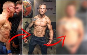 From left: 1. T.J. Dillashaw © Noah K. Murray USA Today Sports / 2 & 3: Pictures from @TJDillashaw (Instagram)