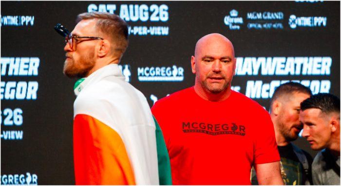 Conor McGregor Dana White © Mark J. Rebilas-USA TODAY Sports