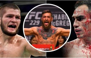 Khabib vs. Ferguson / Conor McGregor Foton: Stephen R. Sylvanie-USA TODAY Sports