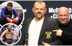 Chuck Liddell Conor McGregor Khabib Nurmagomedov (© Mark J. Rebilas-USA TODAY Sports & Instagram)