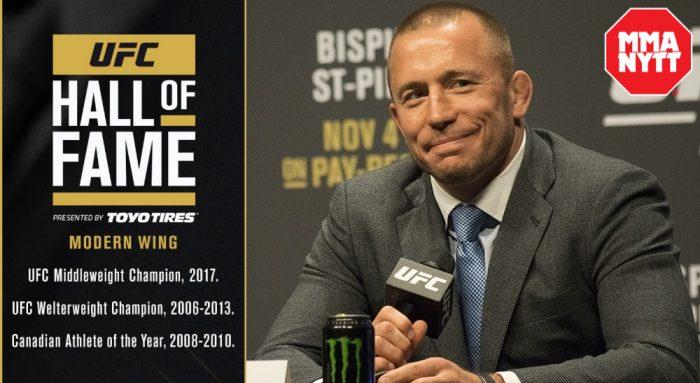 Dana White Georges-St-Pierre-UFC-Hall-of-Fame-Foto-UFC-_-MMAnytt