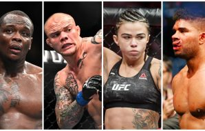 Dana White reveals Ovince Anthony Smith Claudia Gadelha Alistair Overeem (© Per Haljestam-USA TODAY Sports)
